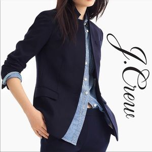 J Crew | Regent blazer in wool flannel Navy Sz 14